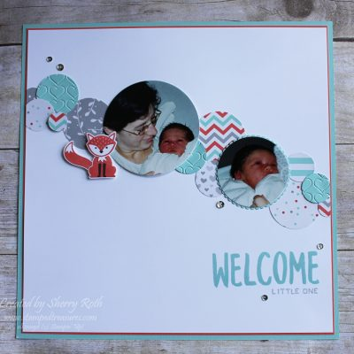 Foxy Friends Welcome Little One Layout
