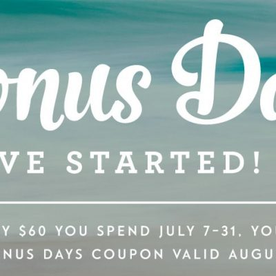 Calling all scrapbookers and Bonus Days end July 31st!