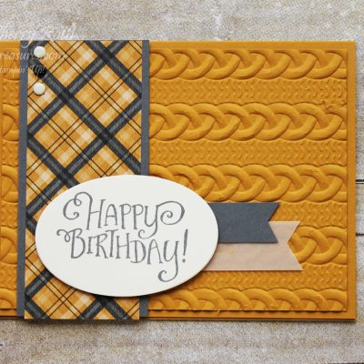 Warmth and Cheer Masculine Birthday Card