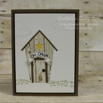 Sweet Home Outhouse Card