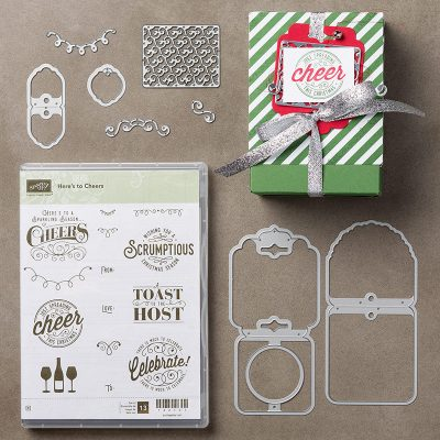 Here's to Cheers Christmas Gift Tags