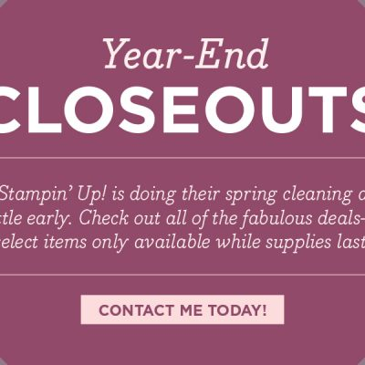 Year-End Closeouts and December Bonus Offer