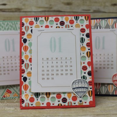 Lift Me Up Desktop Calendar and another Papercrafting Hobby