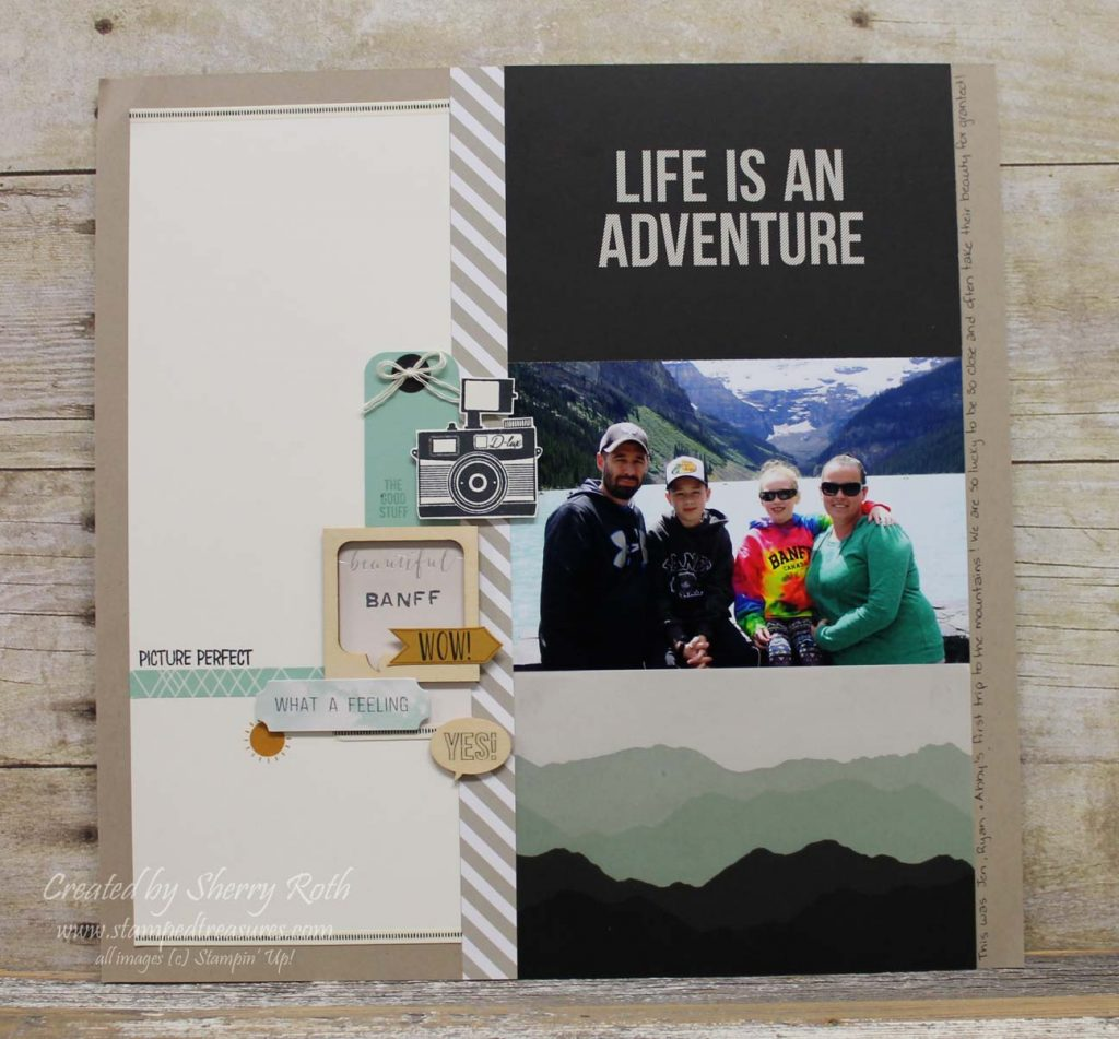 Life is an Adventure Scrapbook Layout