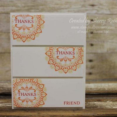 Make a Medallion Thank You Card