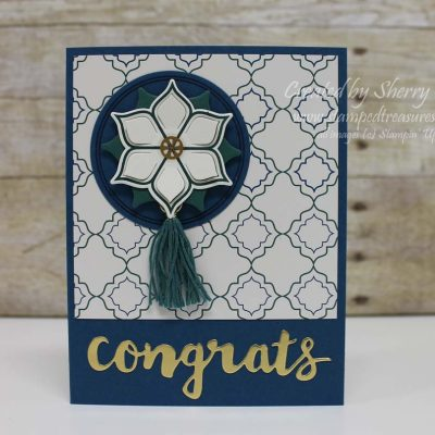 Congrats card using Stampin' Up! Eastern Palace Suite