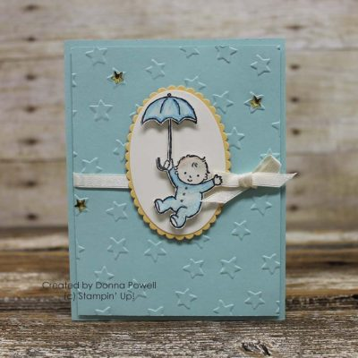 Baby Card with Stampin' Up! Moon Baby