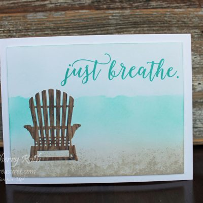 Colorful Seasons Just Breathe Card