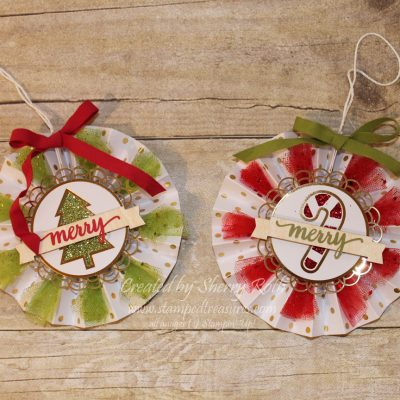 The Be Merry rosettes can be used for so much more than ornaments!