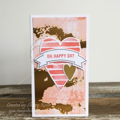 Heart Happiness Narrow Note Card