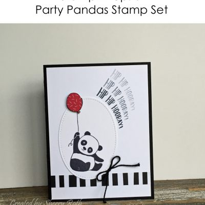 Party Pandas Hip Hip Hooray Card