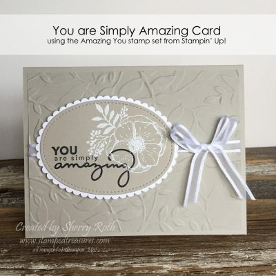 Have you tried making a card using two neutral colors lately?