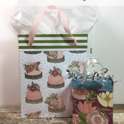 How to make a gift bag from patterned paper