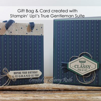 True Gentleman Gift Bag, Card and Class To Go
