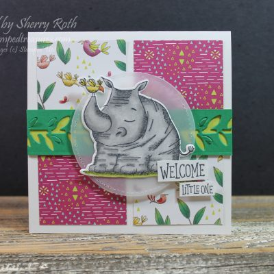 Animal Outing Baby Card
