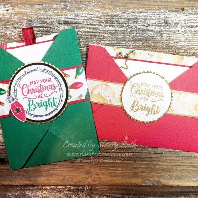 Envelope Punch Board Pocket Gift Card Holder