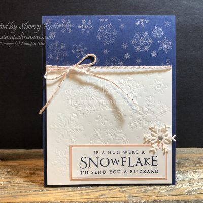 Beautiful Blizzard – Embossing with a Framelit