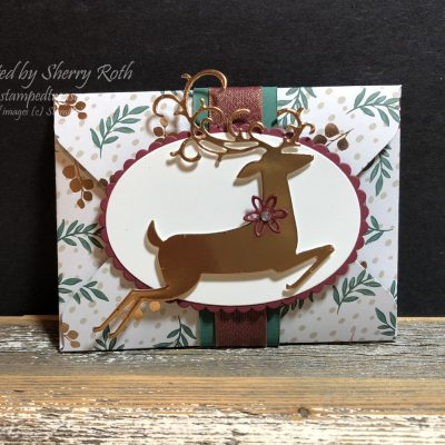 Dashing Deer Envelope Gift Card Holder