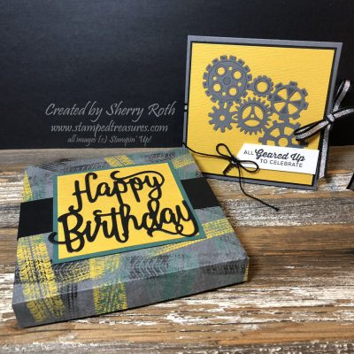 Squash Book with Stampin' Up!'s Geared Up Garage Bundle