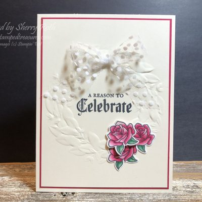 Painted Glass Anniversary Card