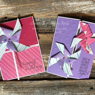 Pinwheel Cards using Stampin' Up!'s How Sweet It Is DSP