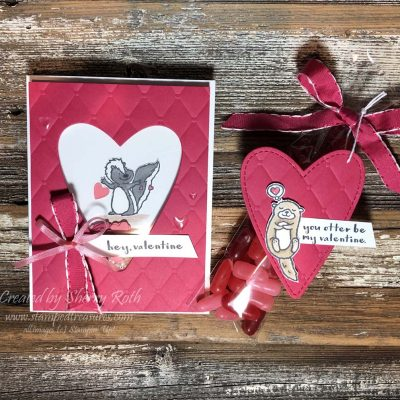 Creating a Valentine's Day Shaker Card using Stampin' Up!'s Hey Love Stamp Set