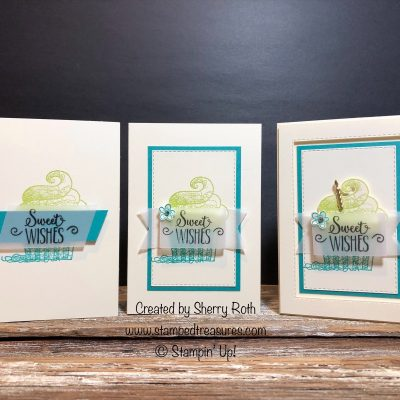 Hello Cupcake – One Card Three Ways