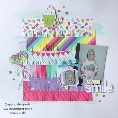 Sweet Smile Layout using Stampin' Up!'s How Sweet It Is Suite