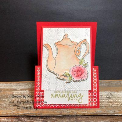 Tea Together Fun Fold Card