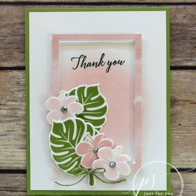 Tropical Chic Thank You Card