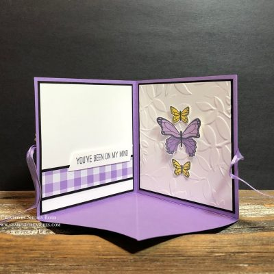 Corner Pop Up Card using Stampin' Up!'s Butterfly Gala Bundle