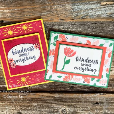 Quick and Easy Front Flap Card – Two Ways using the Happiness Blooms Suite by Stampin' Up!