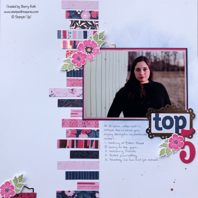 Everything is Rosy Layout Using Scraps