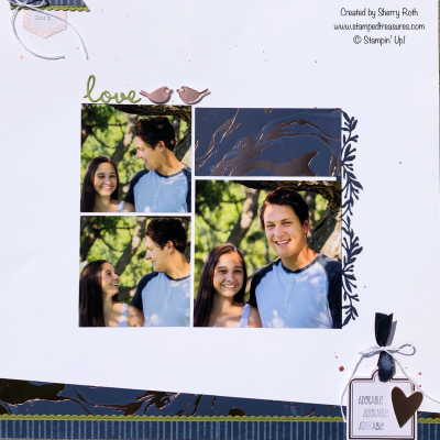 Love Birds Layout for Memory Keeping Monday