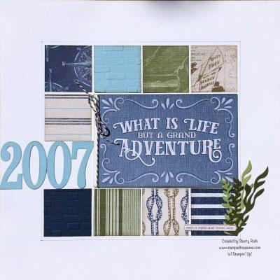 Scrapbook Album Title Page