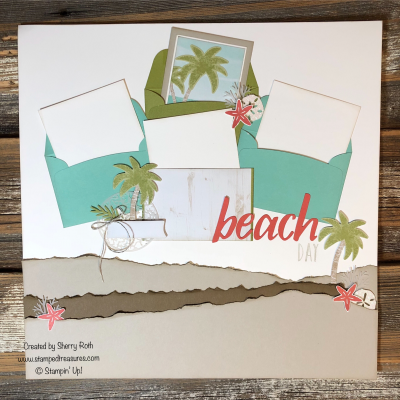 A Little Smile Paper Pumpkin Kit June 2019 Beach Day Layout