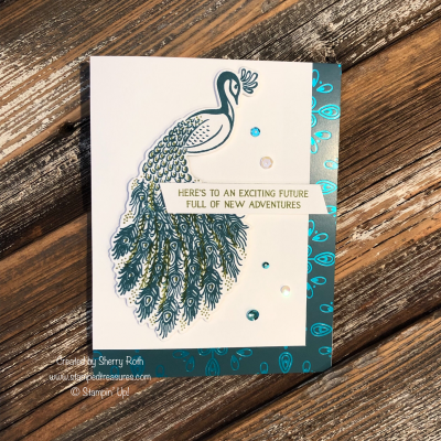Royal Peacock Card