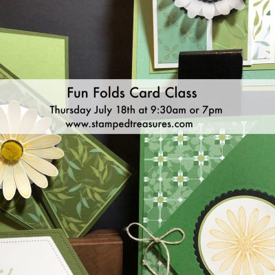 Daisy Lane Fold Out Panel Fun Fold Card and Fun Folds Class