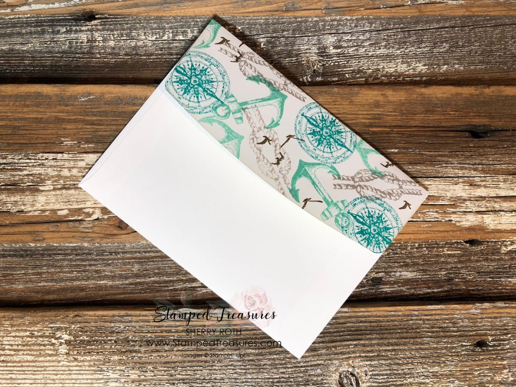 Collage Stamped Envelope Flap