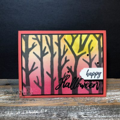 Halloween Card Using Stencils