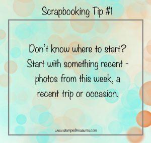Scrapbooking Tip 1
