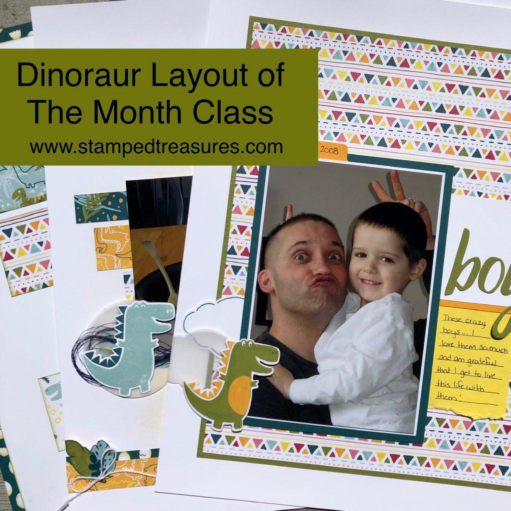 Dinoraur Scrapbooking Class