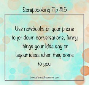 Scrapbooking Tip 15