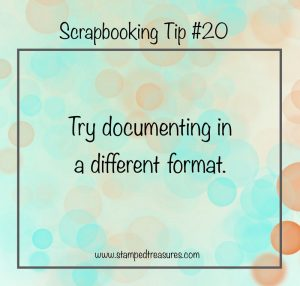Scrapbooking a Different Format