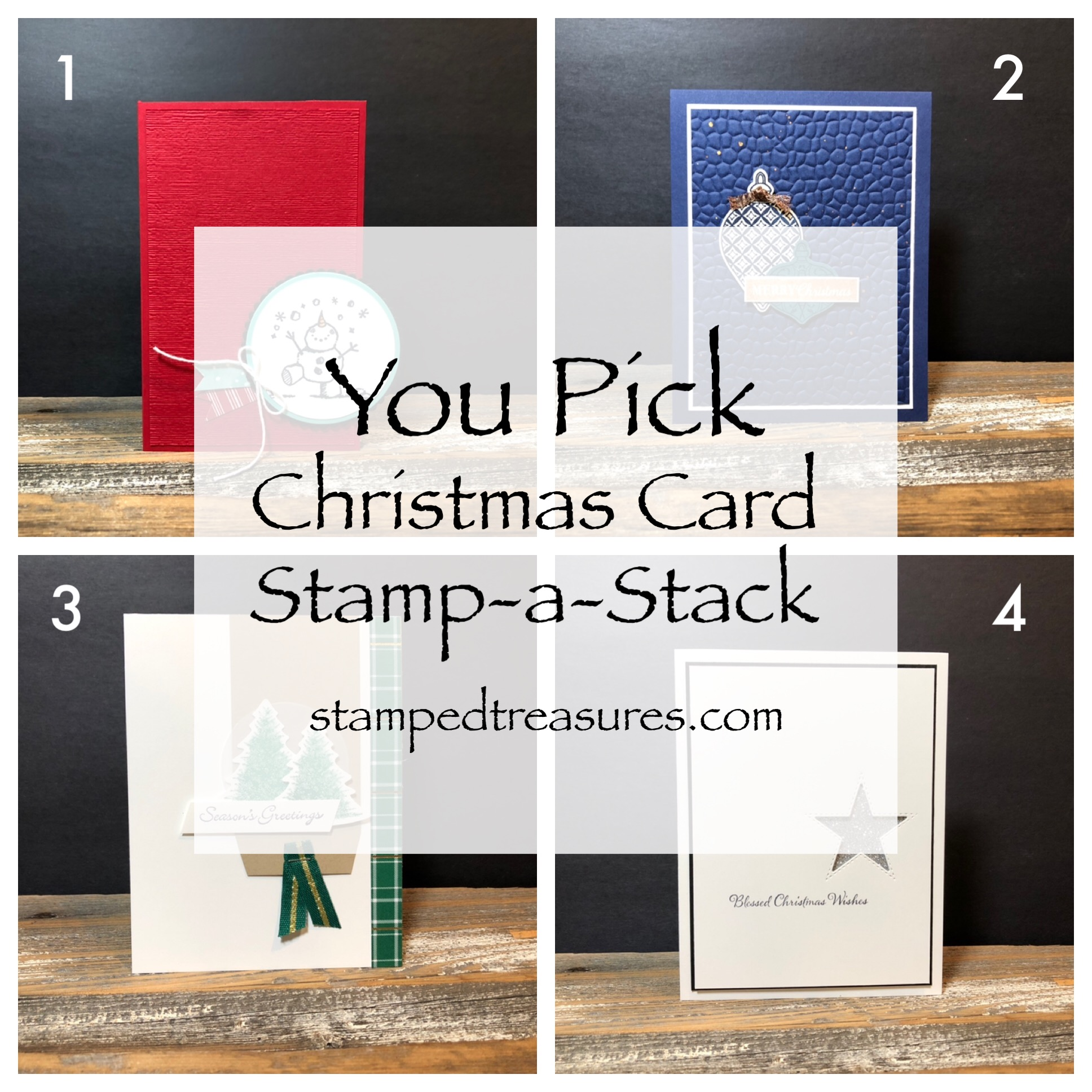 You Pick Christmas Stamp-a-stack