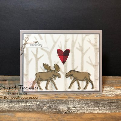 Merry Moose Anniversary Card