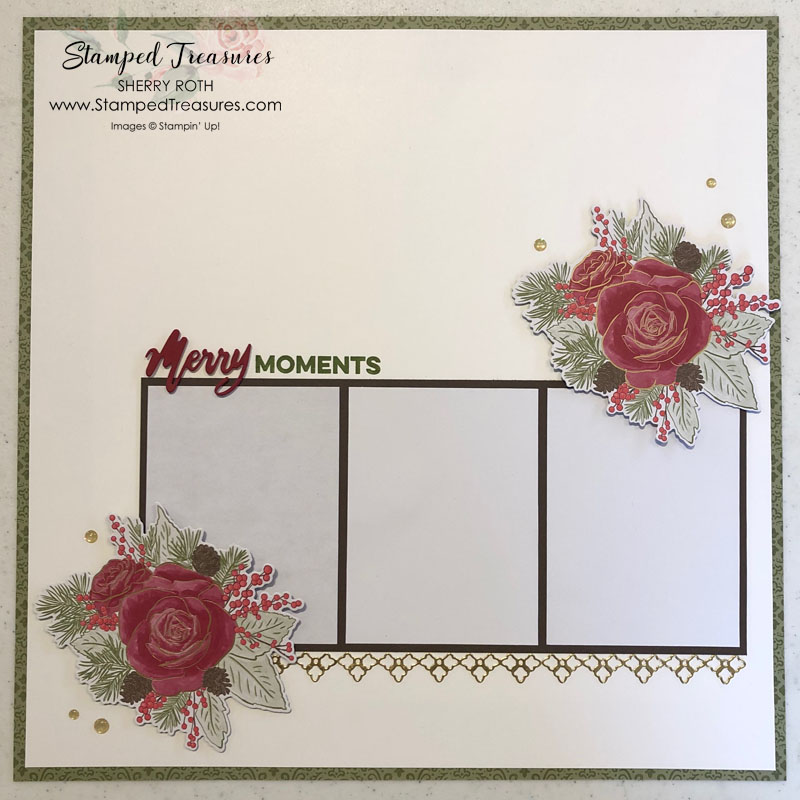Quick & Easy Christmas Scrapbook Layout