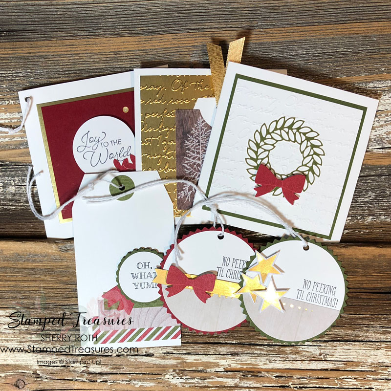Holiday Gift Tags from Scraps