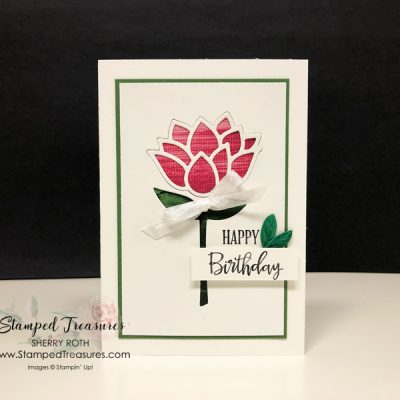 Birthday Card using the Sale-a-Bration Lily Pad Collection