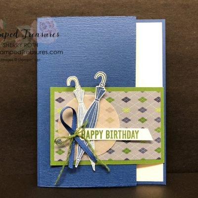 Simple Masculine Fun Fold Card
